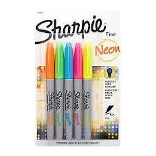 Marcador Sharpie Neon x5