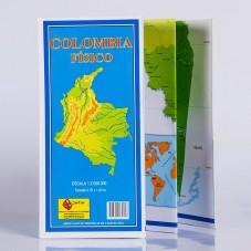 Mapa de Colombia Físico 70...